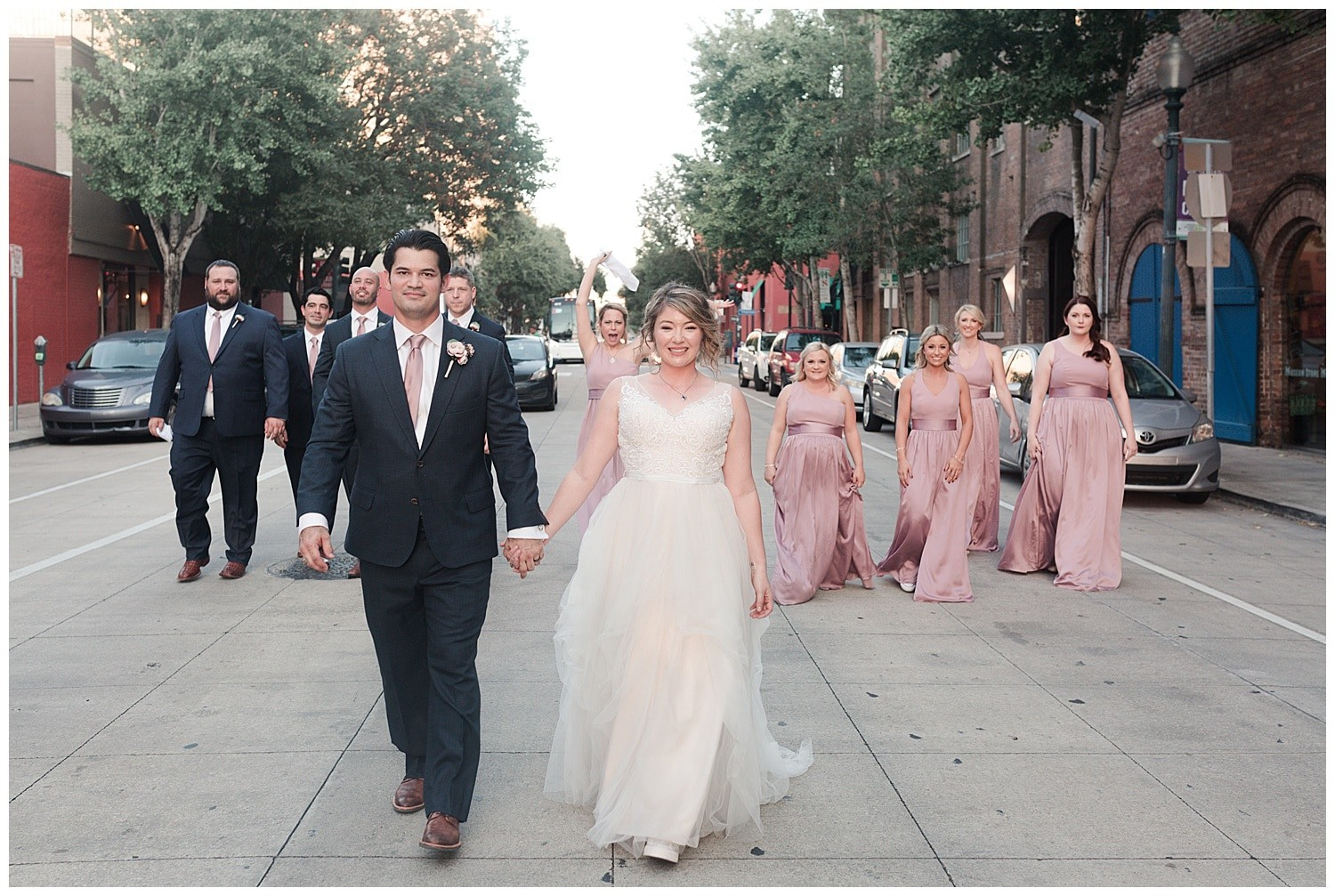 wedding party photos at Thomas Bistro in New Orleans by Swish and Click Photography