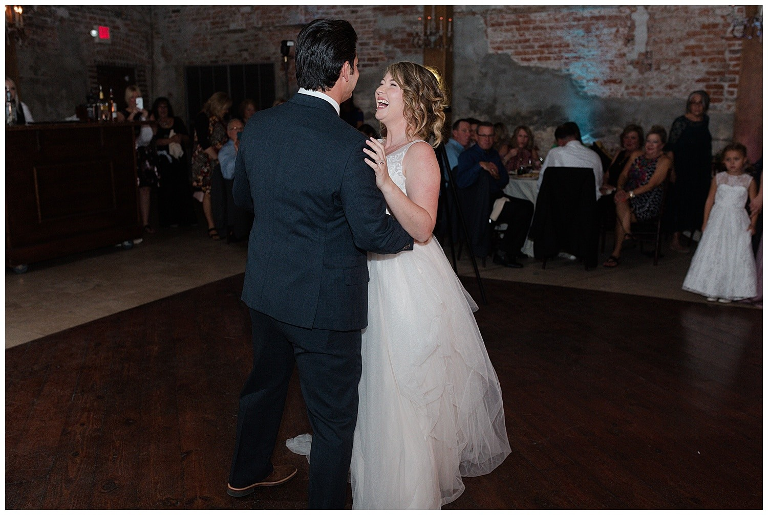 wedding first dance at Thomas Bistro in New Orleans by Swish and Click Photography