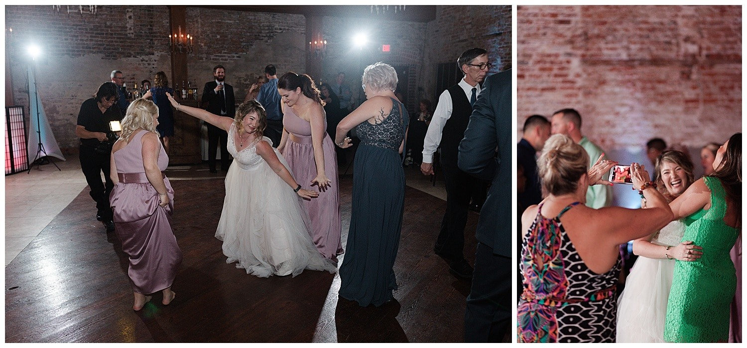 wedding reception dancing at Thomas Bistro in New Orleans by Swish and Click Photography