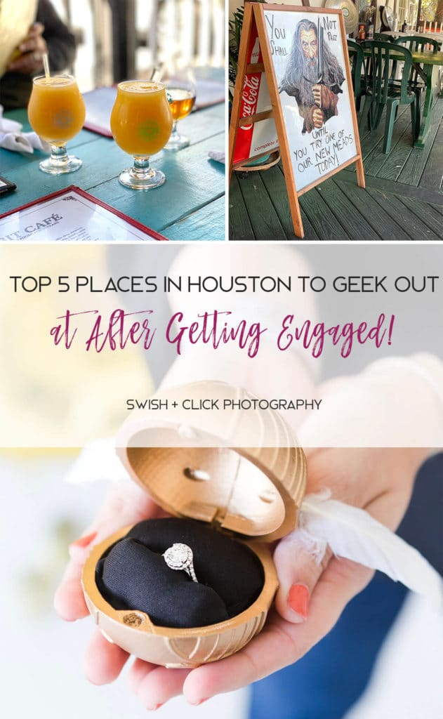 nerdy restaurant in Houston Texas by wedding photographer Swish and Click