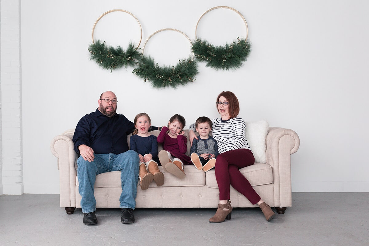Bougie Christmas portraits in Houston Texas by Swish and Click Photography