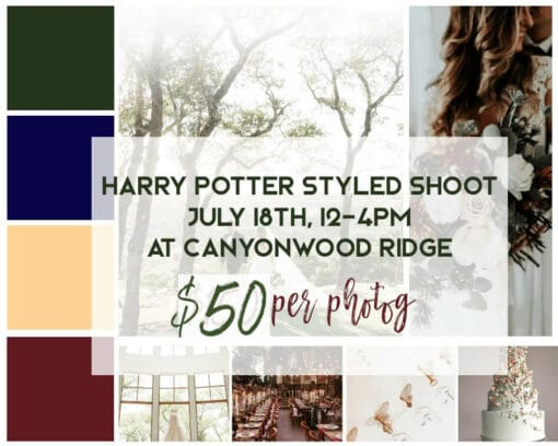 Harry Potter styled shoot