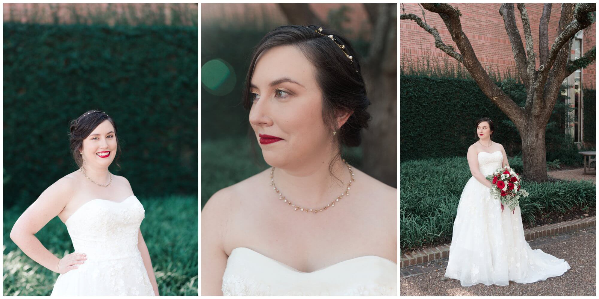 bridal portraits at Rice University in Houston Texas by Swish and Click Photography