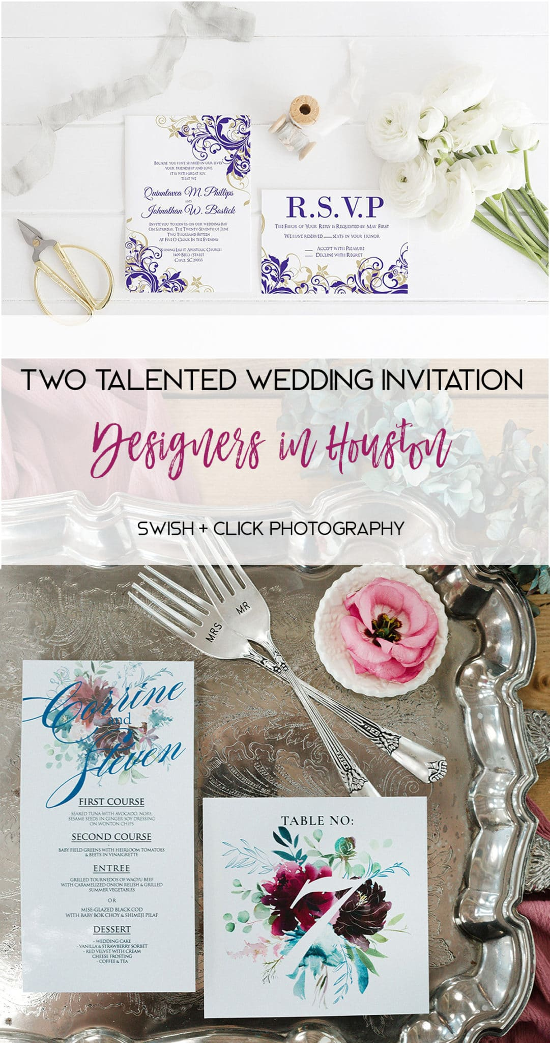 Two Talented Wedding Invitation Designers in Houston