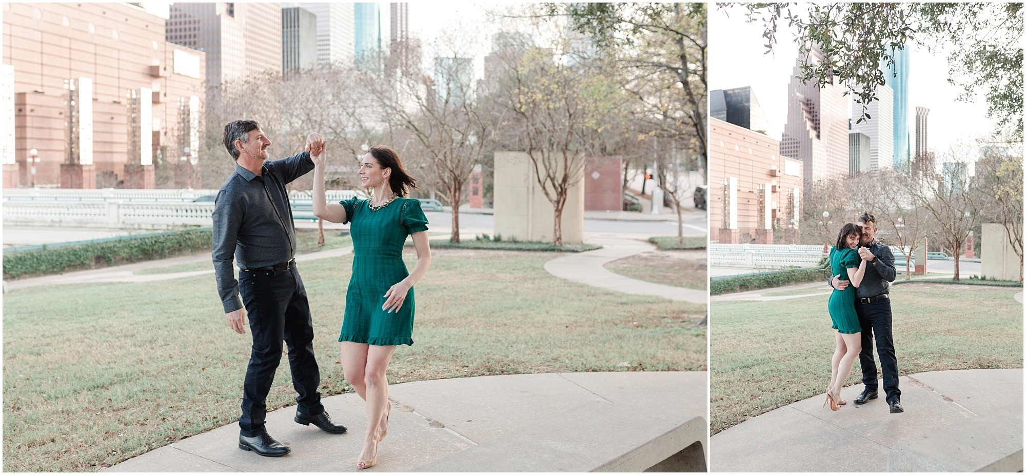 downtown Houston engagement session by Houston Photographer Swish and Click Photography