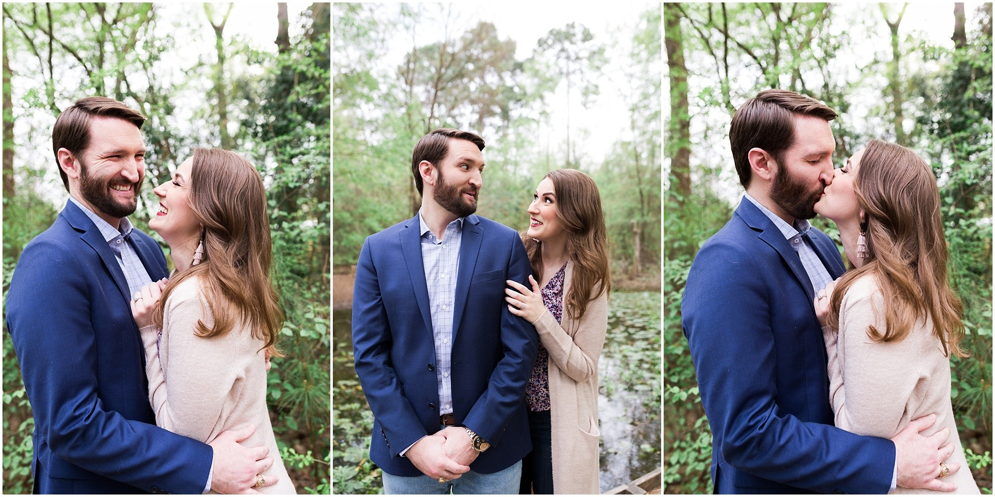 fun romantic Houston engagement session