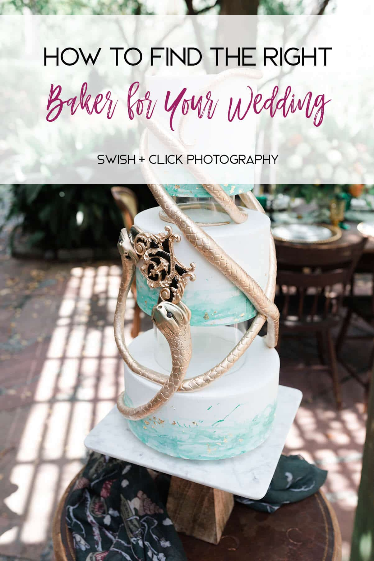 find the right baker for your wedding