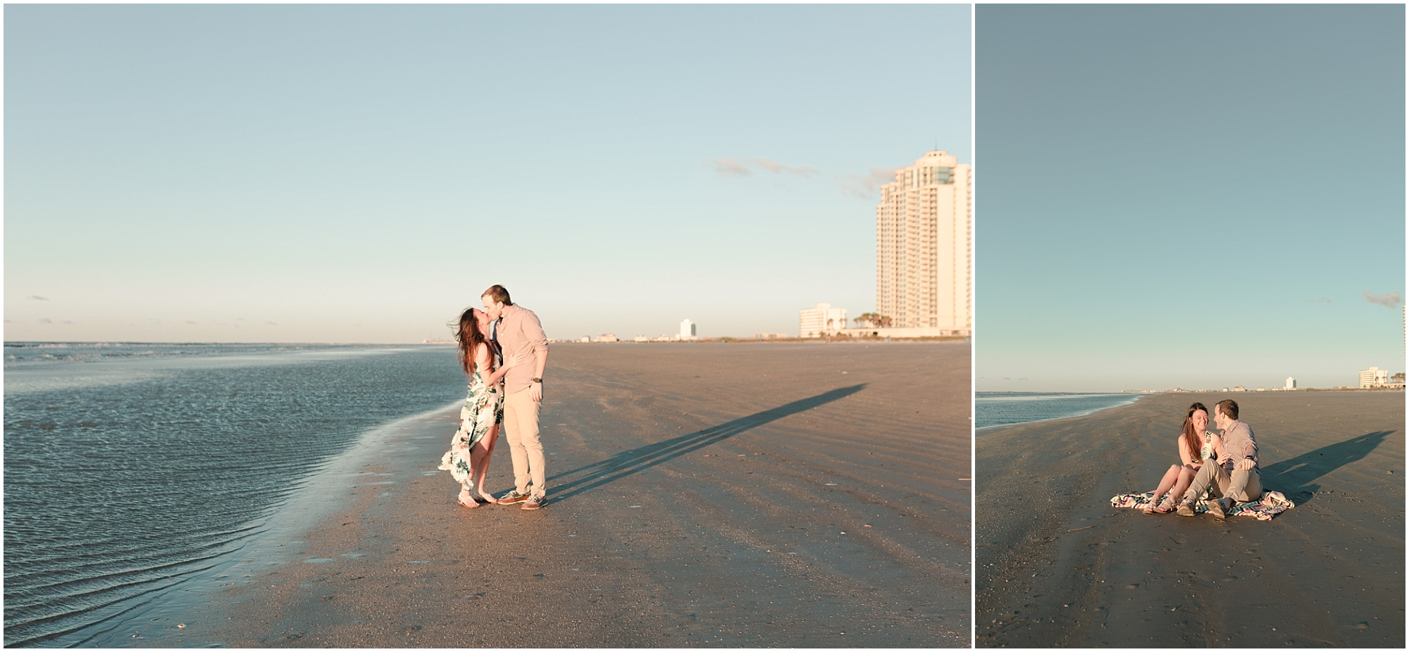 Galveston beach engagements