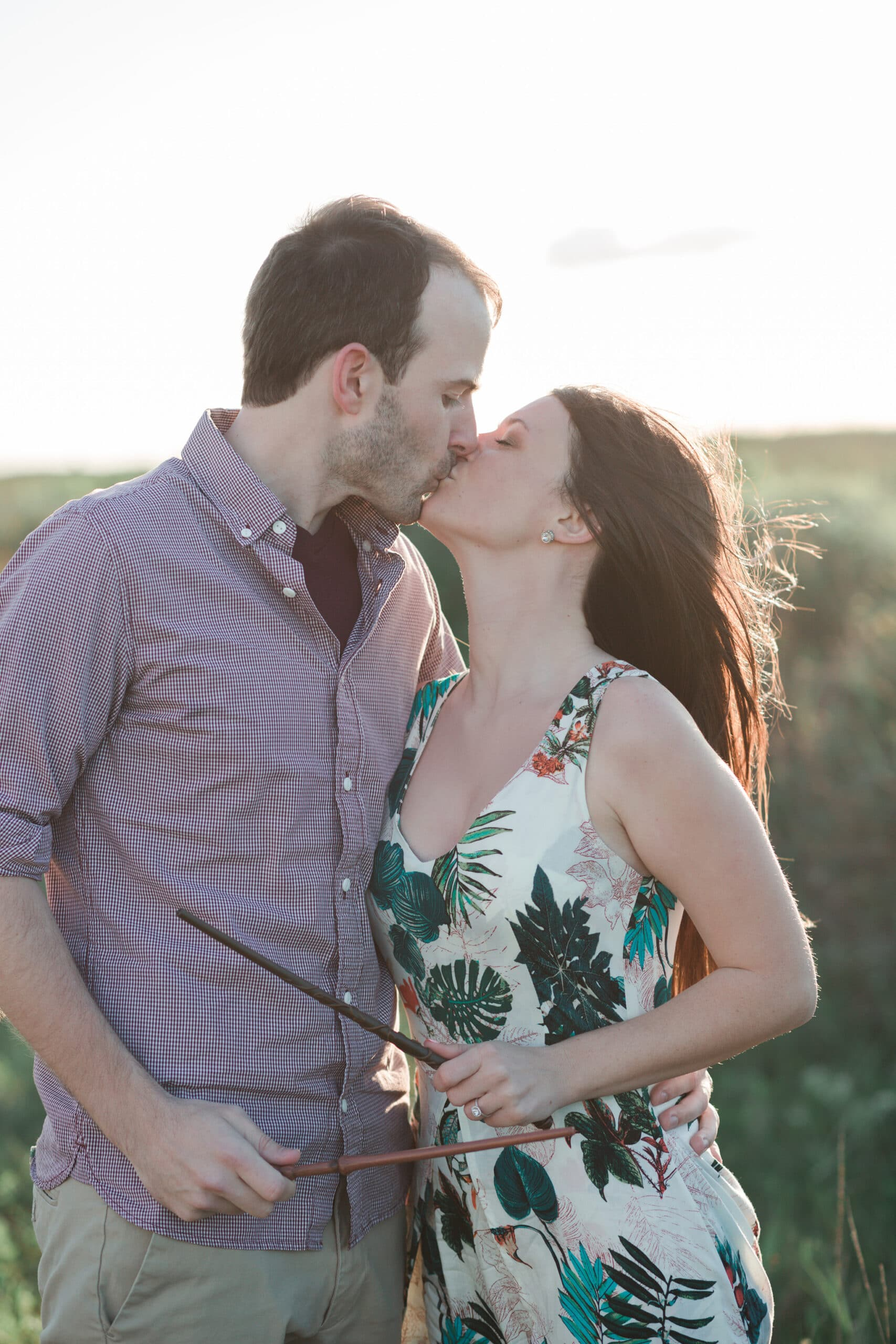 Harry Potter Engagement Session in Galveston   Taylor + Andrew