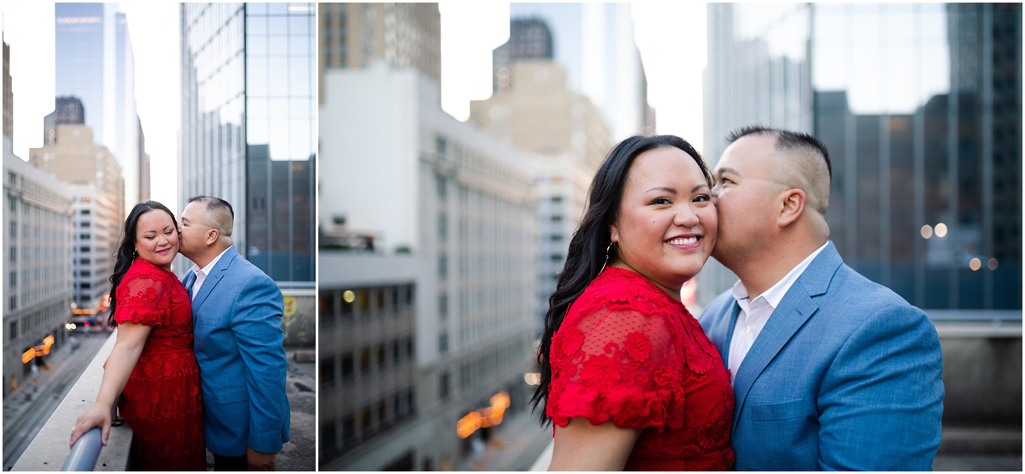 Modern Downtown Houston Engagement Session