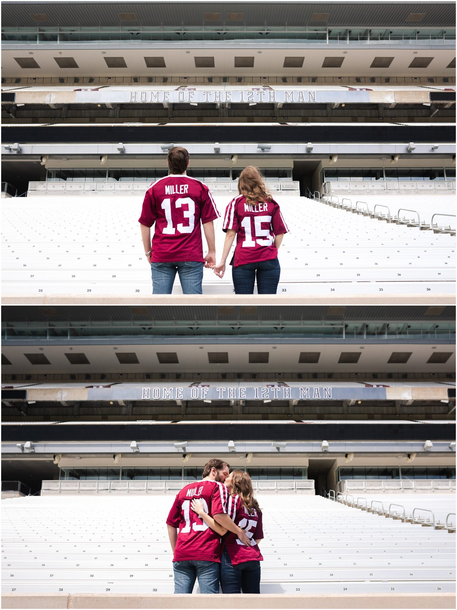 Kyle Field engaged couple