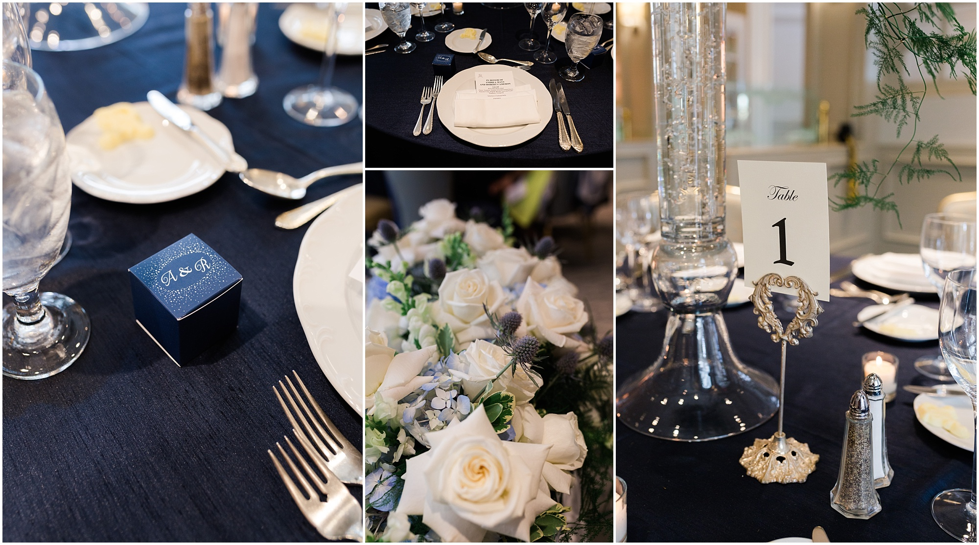 White + Dusty Blue Wedding at the St. Regis Houston