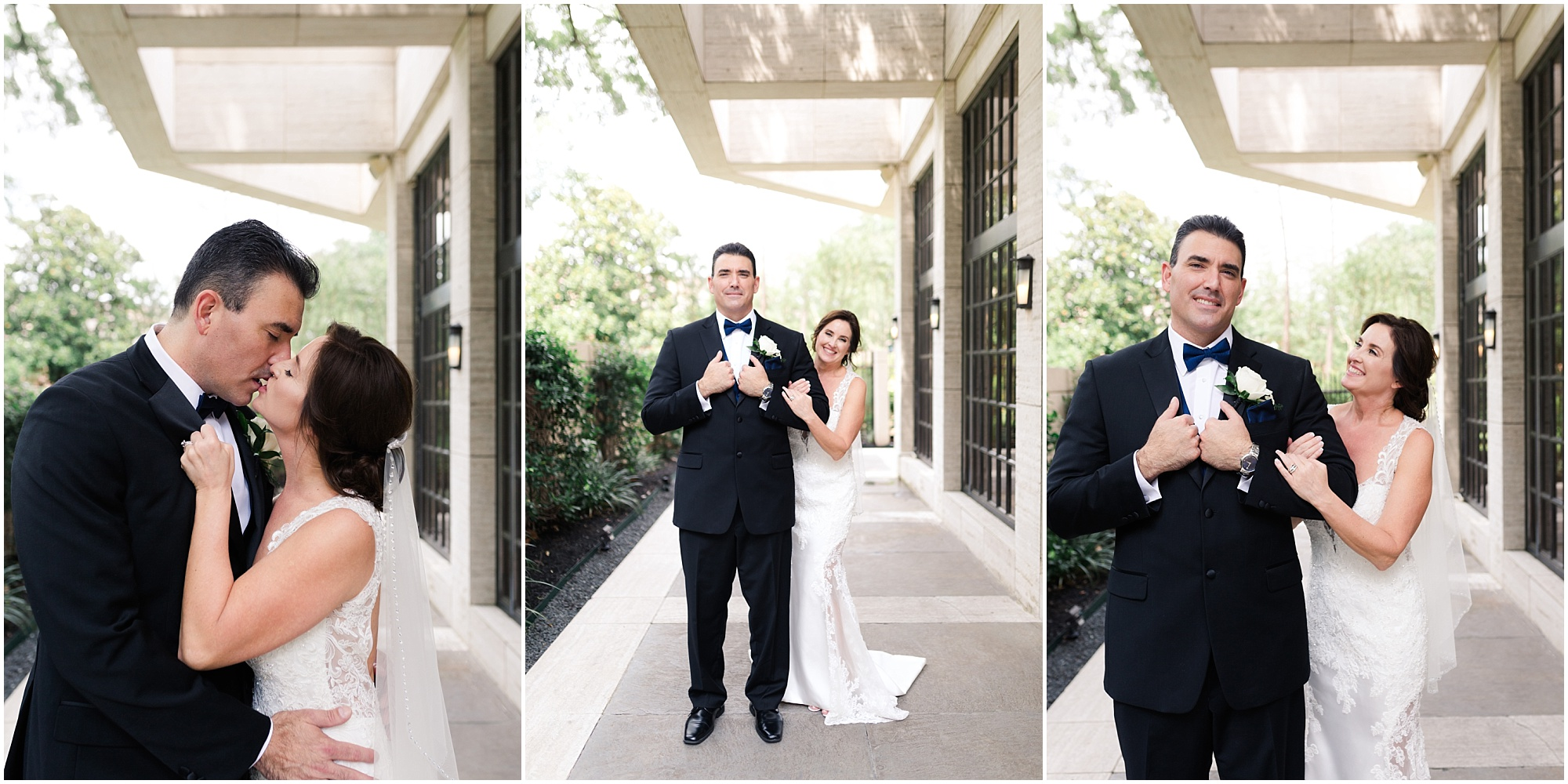 white + dusty blue wedding at the St Regis Houston