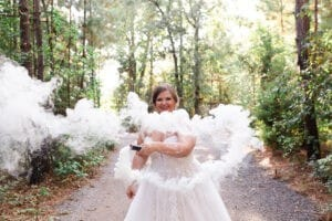 bridal session at Magnolia Bells photographed by Swish and Click Photography