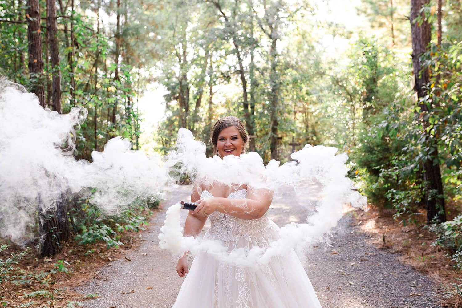 Gorgeous, Smokey Bridal Session in Houston