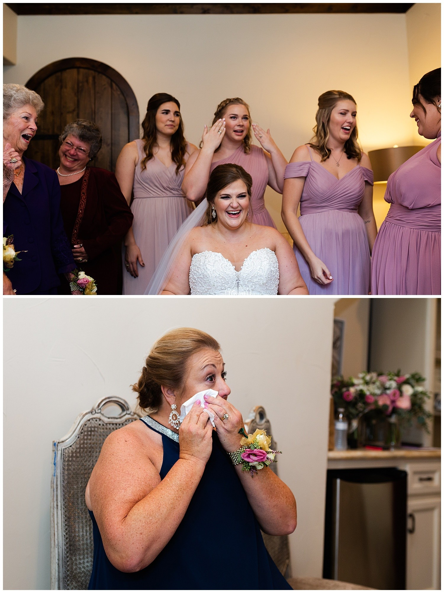 emotional mother of the bride
