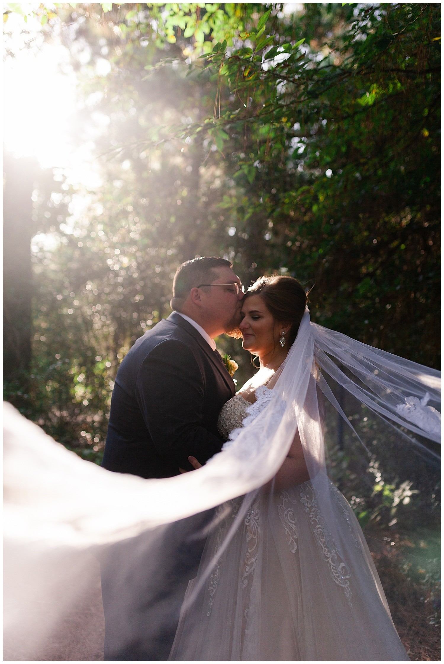 couples portraits at Magnolia Bells wedding venue photographed by Swish and Click Photography