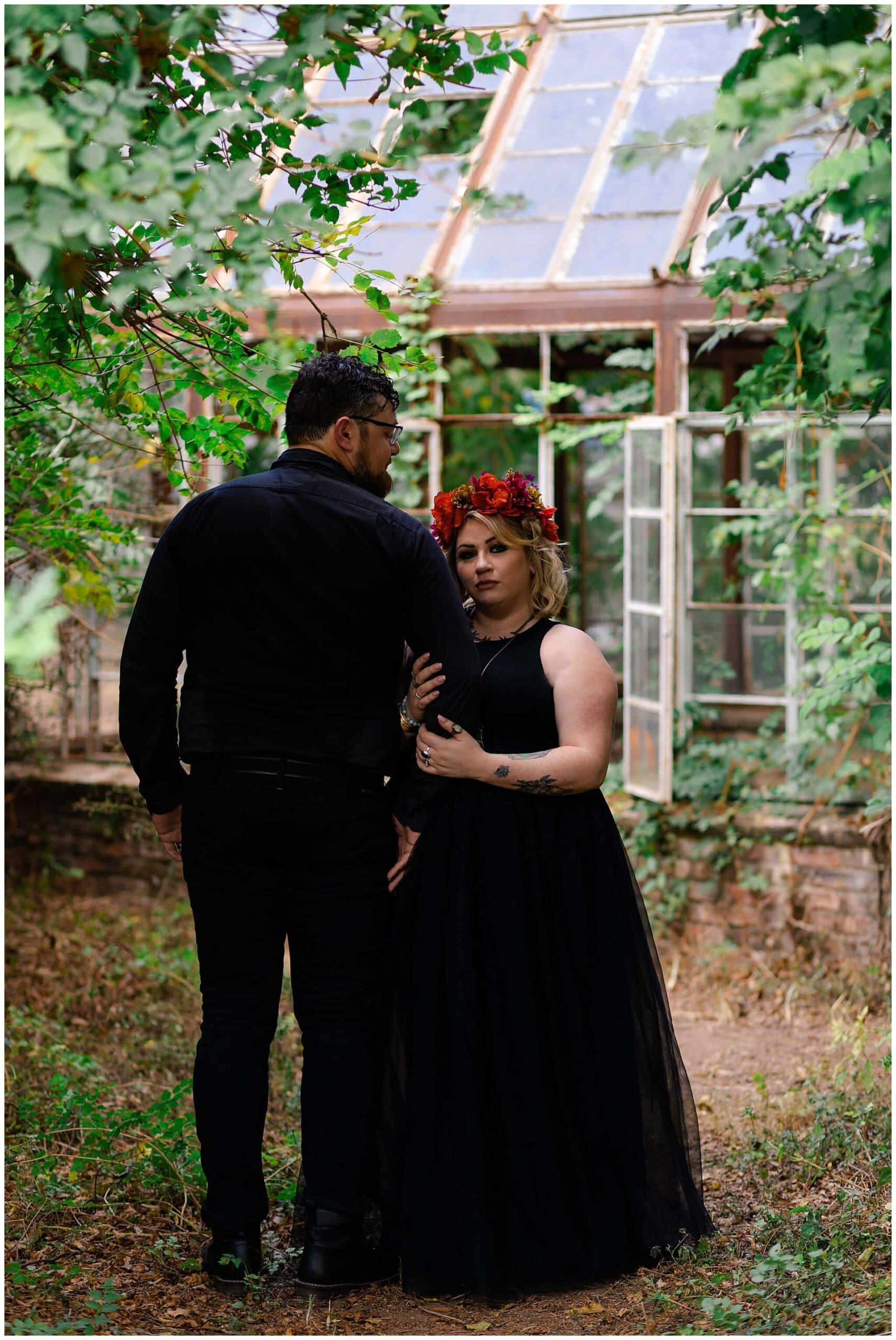 Intimate engagement session at Sekrit Theater in Austin, Texas photographed by Swish and Click Photography
