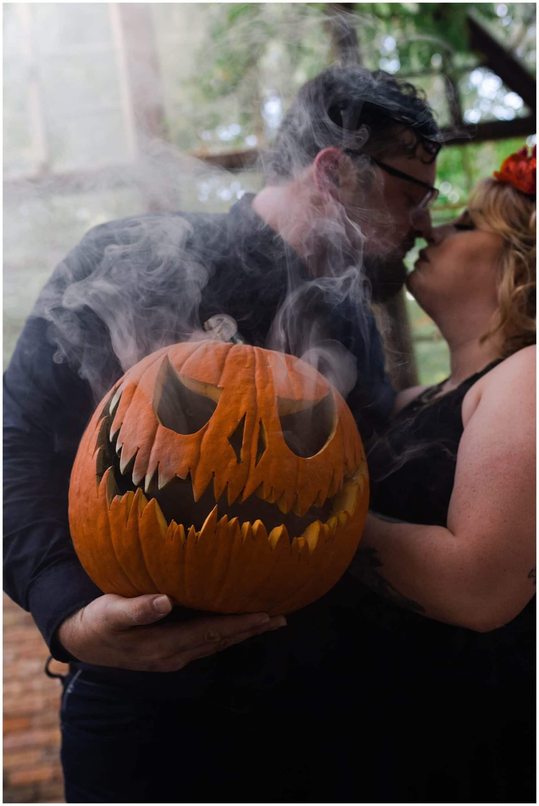 Intimate Halloween Inspired Austin Engagement Session | Rheanna + Joseph