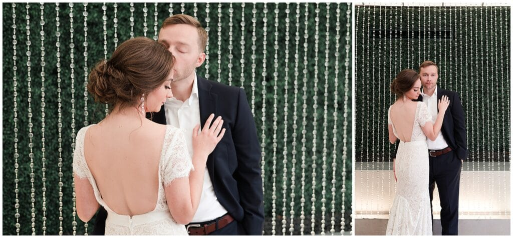 Houston wedding photographer Swish and Click photography capturing bride and groom in Houston during Coronavirus