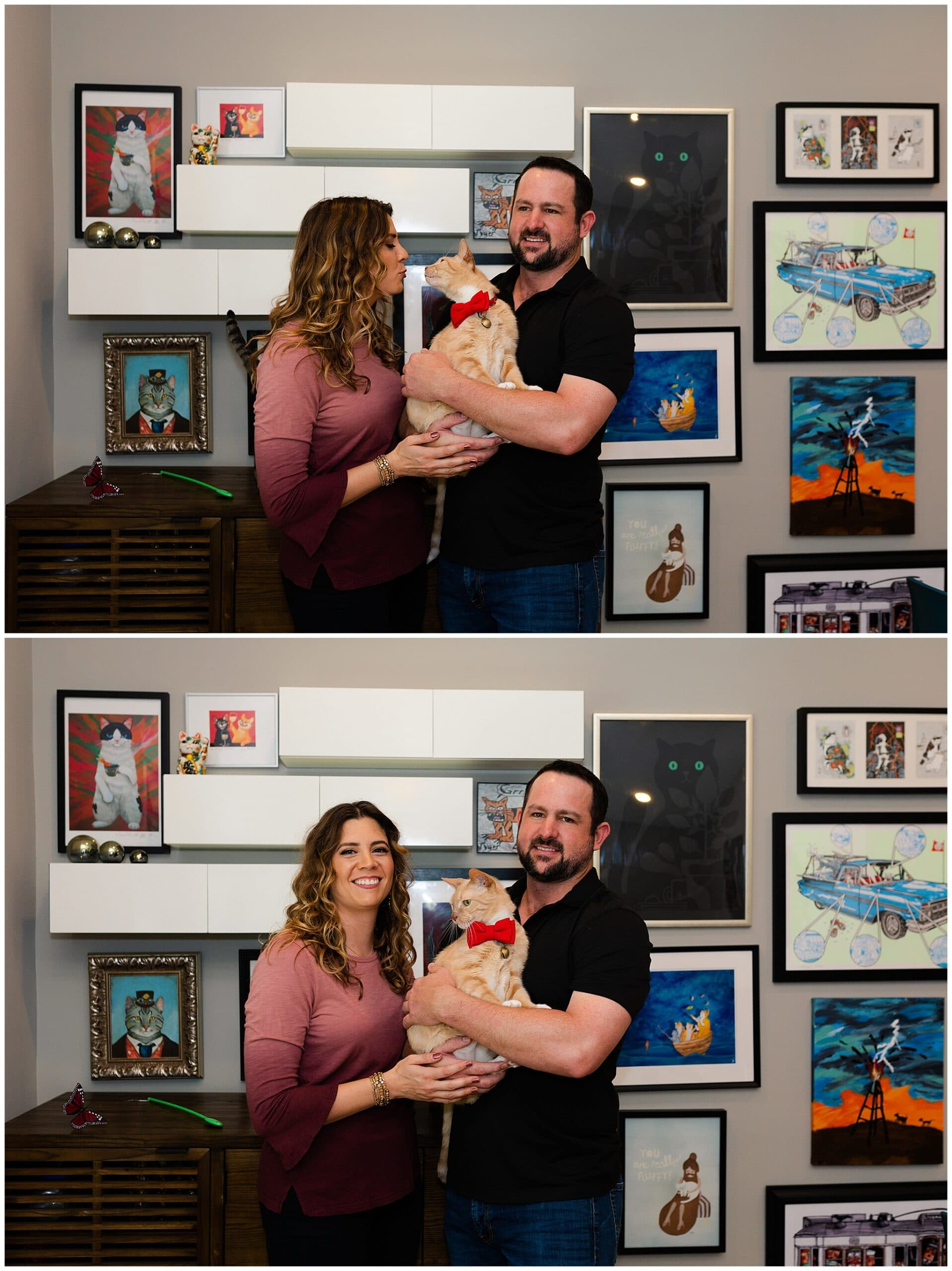 cozy engagement session in Houston, Texas photographed by Swish and Click Photography