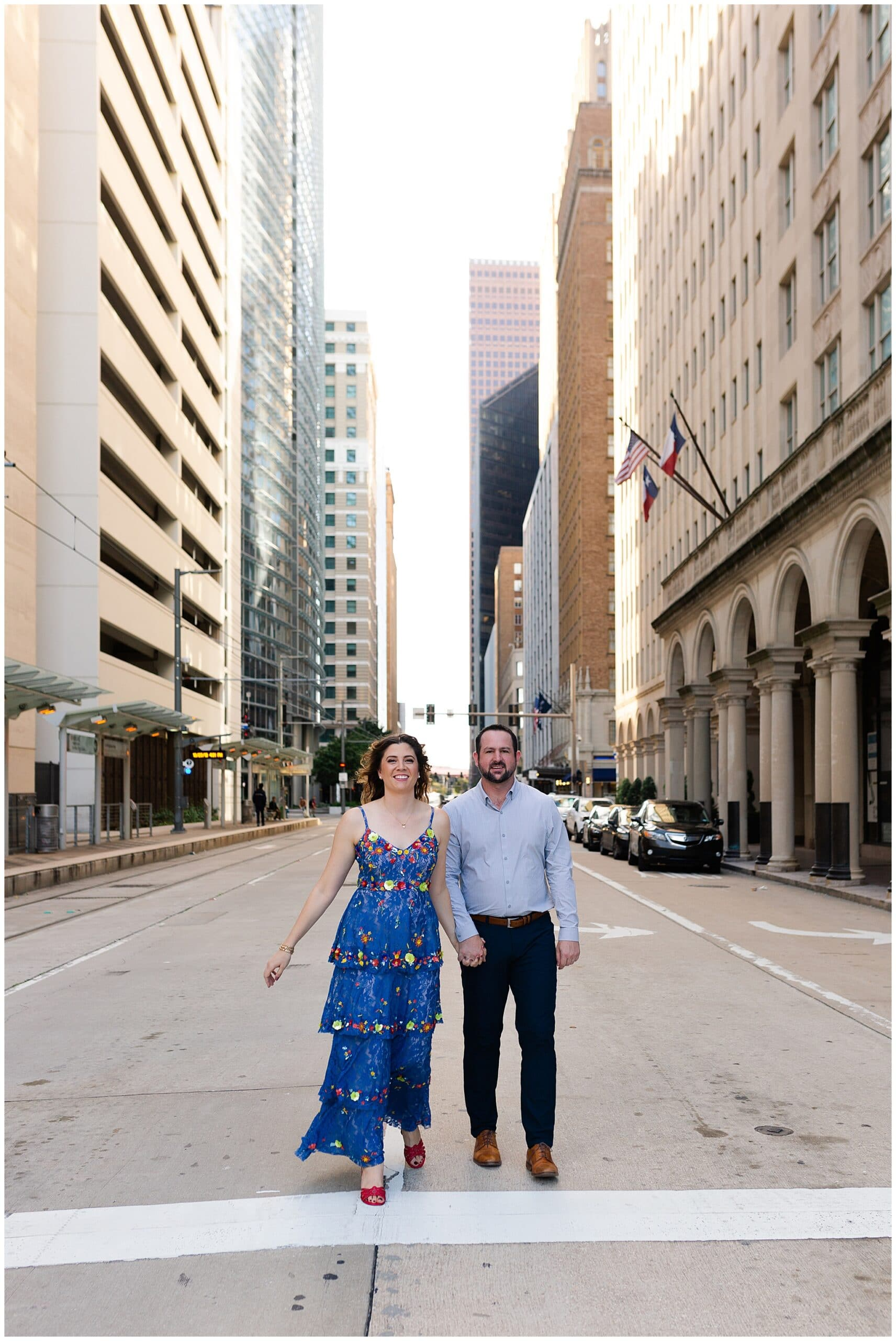 Houston downtown Engagement Session by Houston Photographer Swish and Click Photography