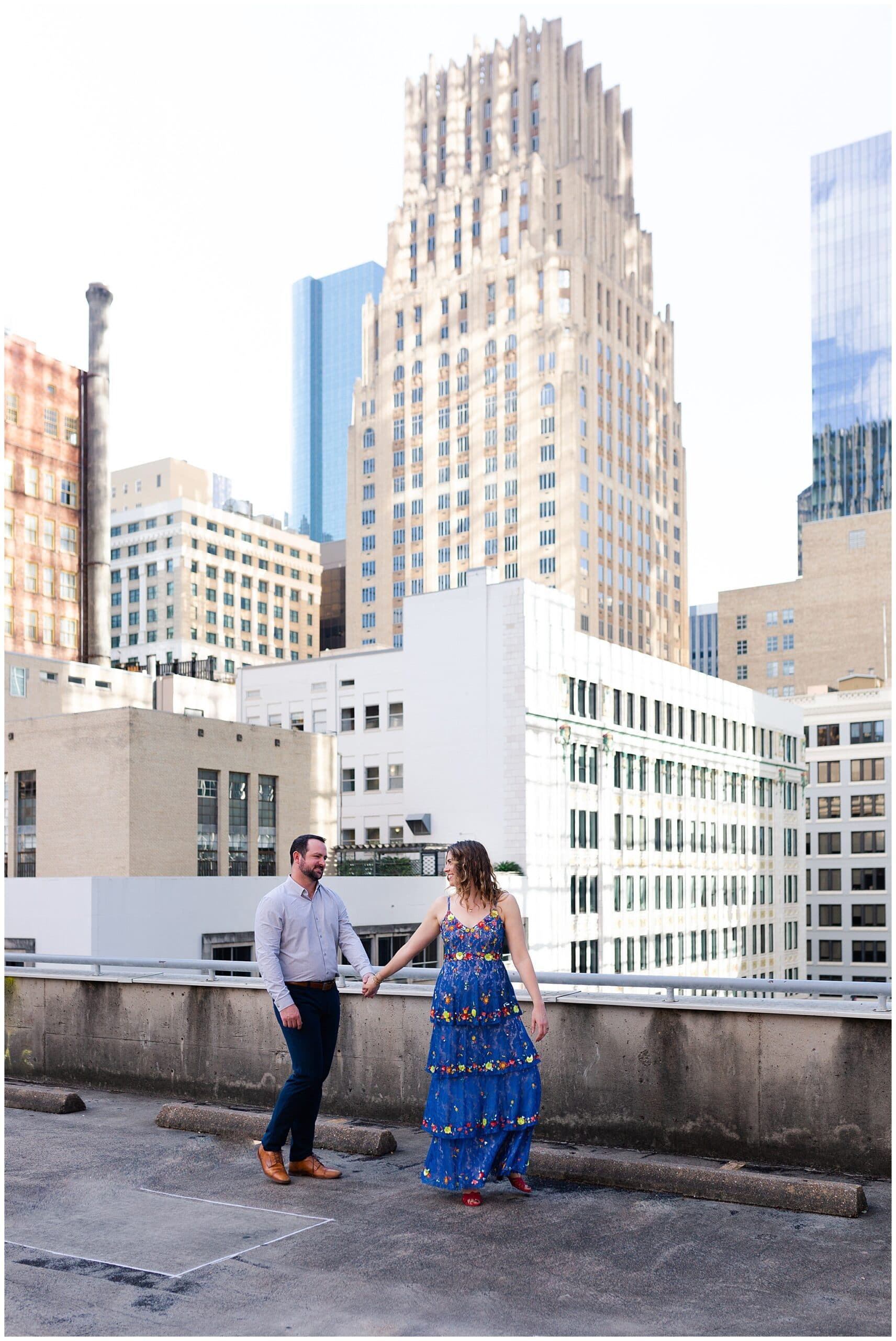 Enchanting Houston Downtown Engagements | Allison + Jared
