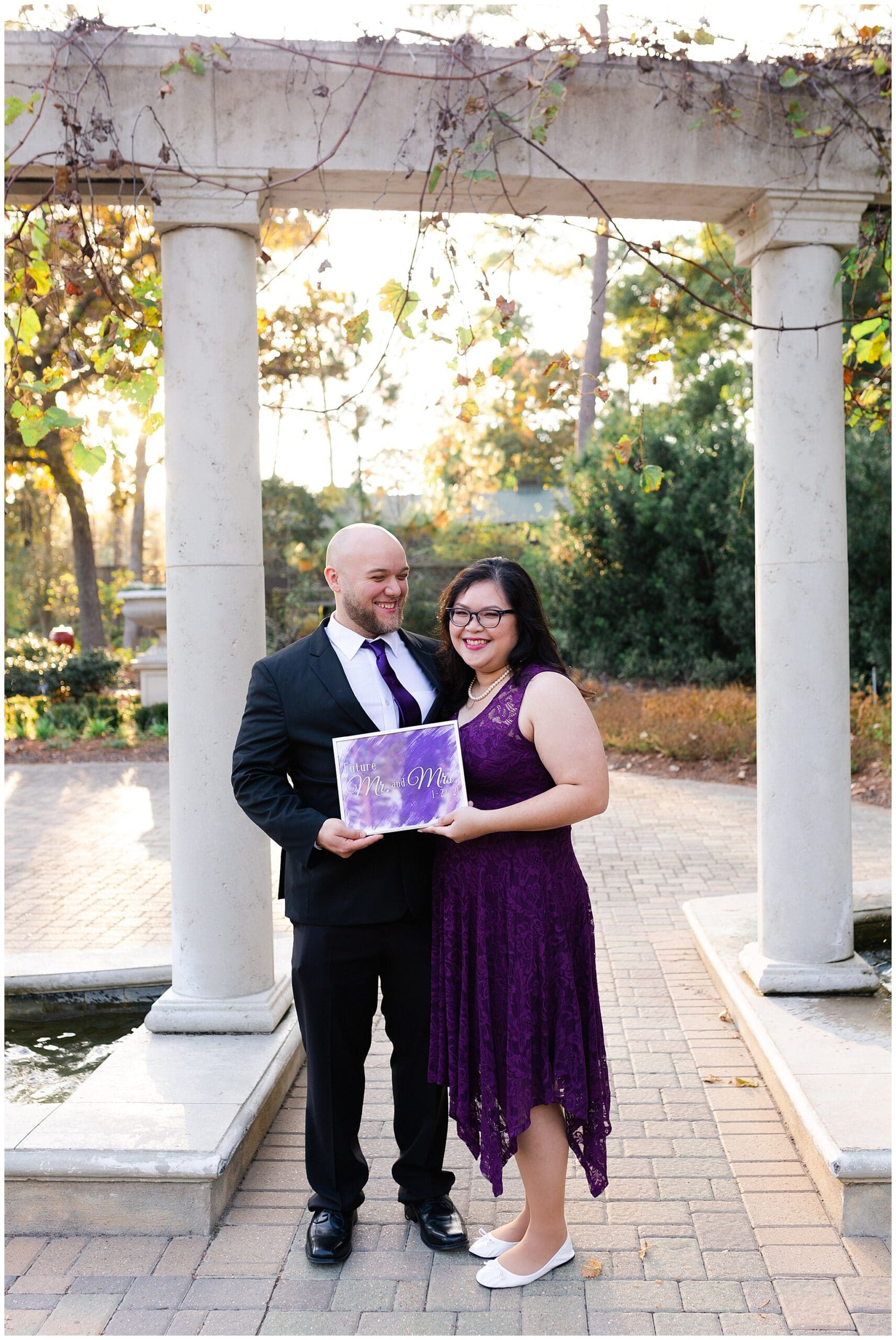 adorable engagement session at Mercer Botanic Gardens in Houston TX photographed by Swish and Click Photography