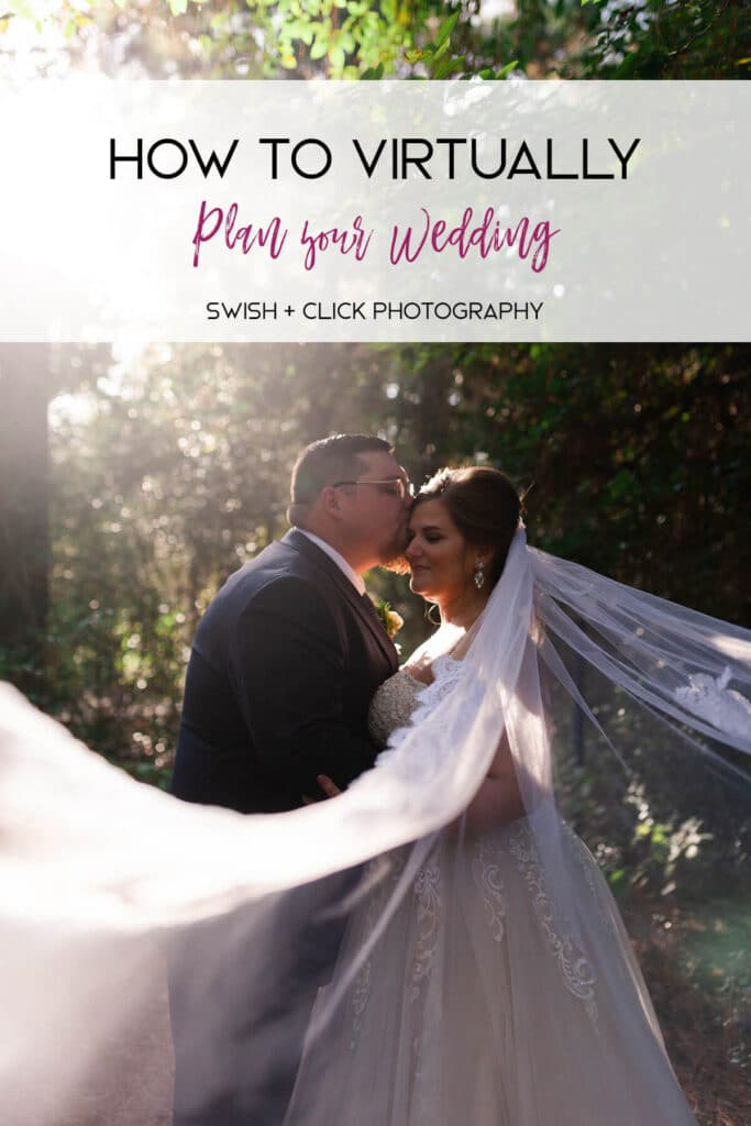 Houston wedding photographer Swish and Click Photography captures the bride and groom at Magnolia Bells