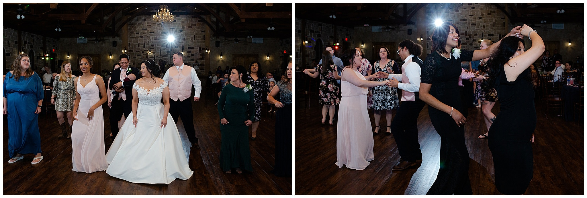 wedding dancing at Bridal Oaks in Cypress Texas by Houston wedding photographer Swish and Click Photography