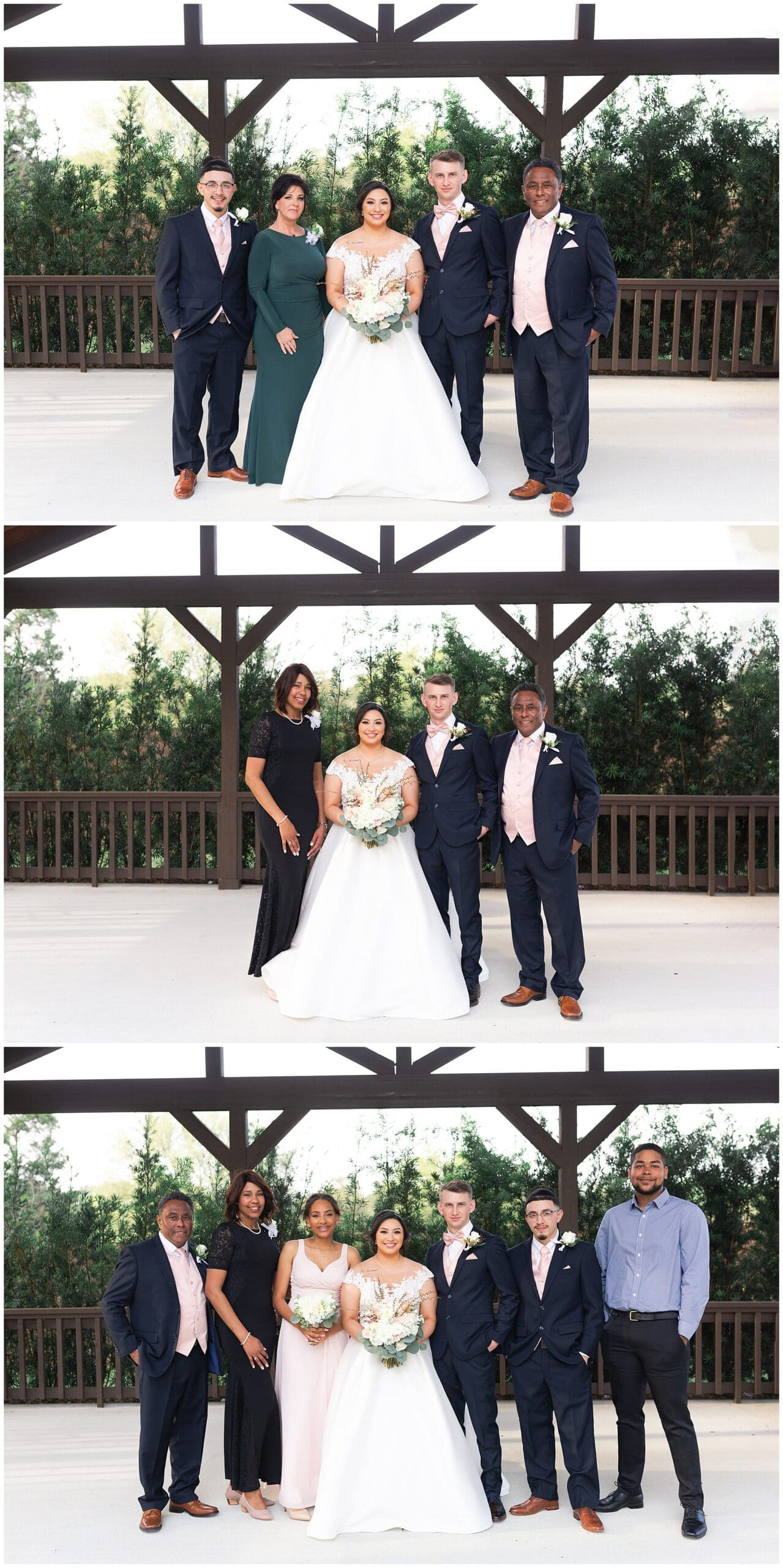 family portraits at Bridal Oaks in Cypress Texas by Houston wedding photographer Swish and Click Photography