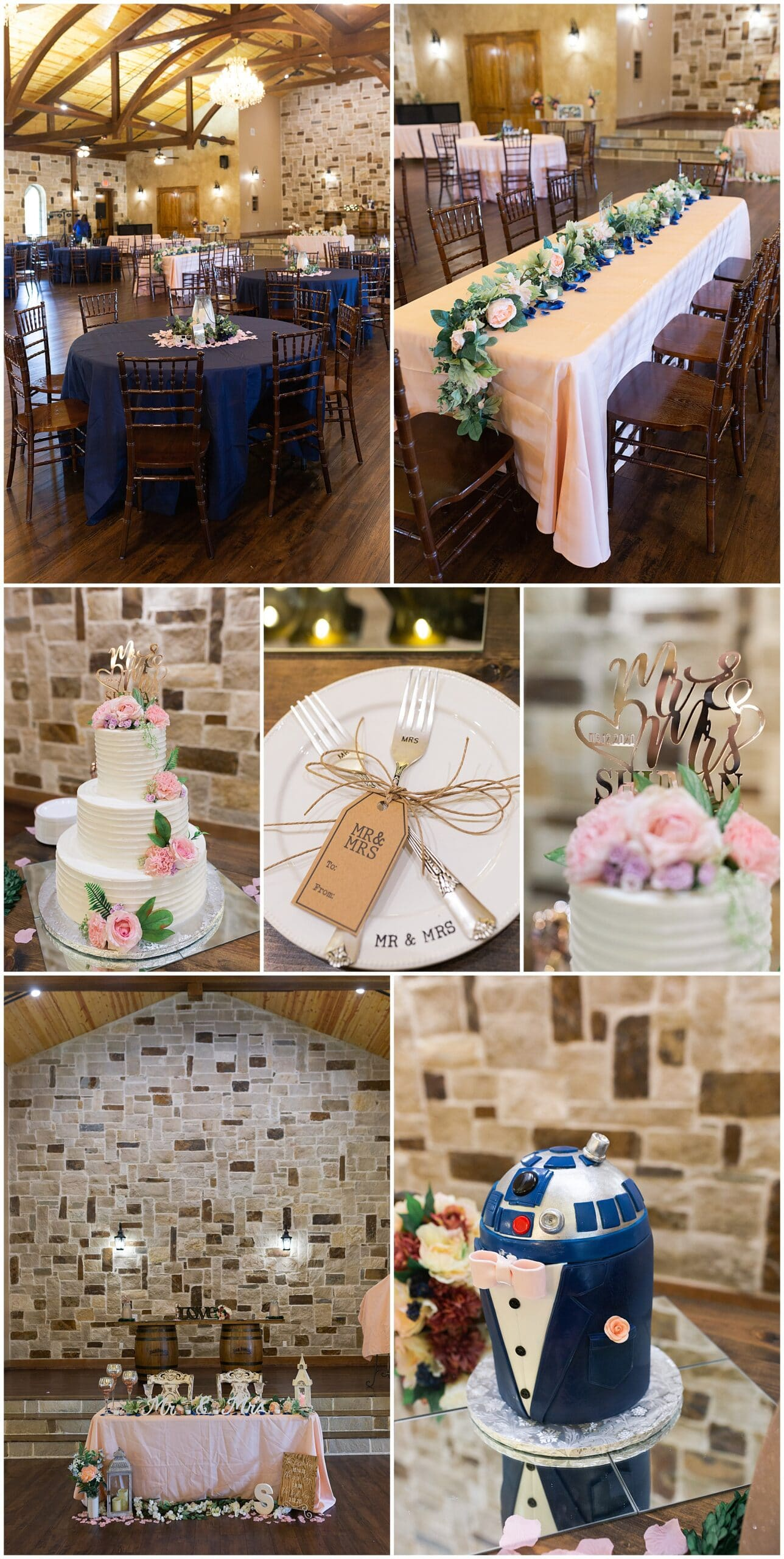 wedding reception details at Bridal Oaks in Cypress Texas by Houston wedding photographer Swish and Click Photography