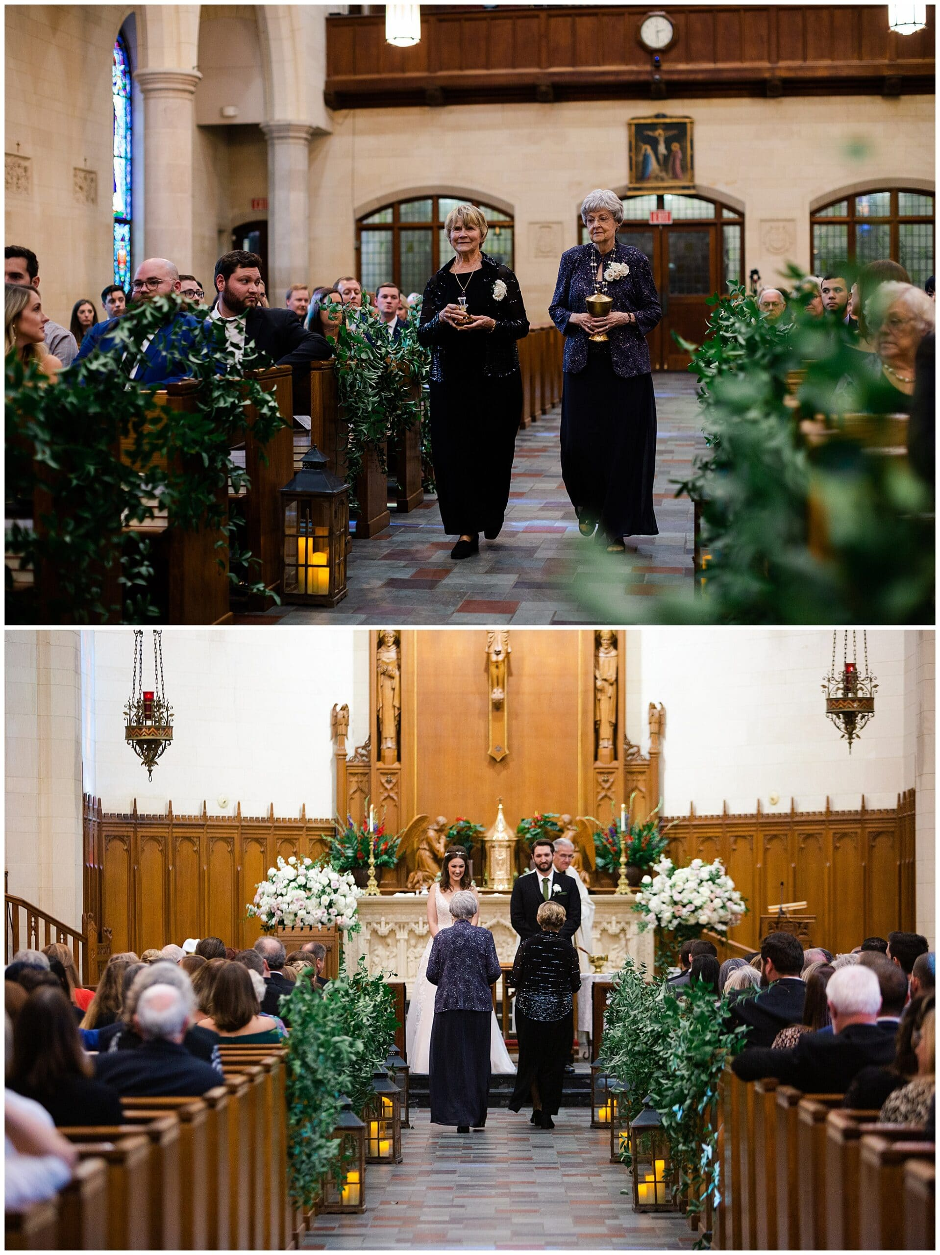 Catholic wedding ceremony at Holy Rosary Catholic Church captured by Swish and Click Photography