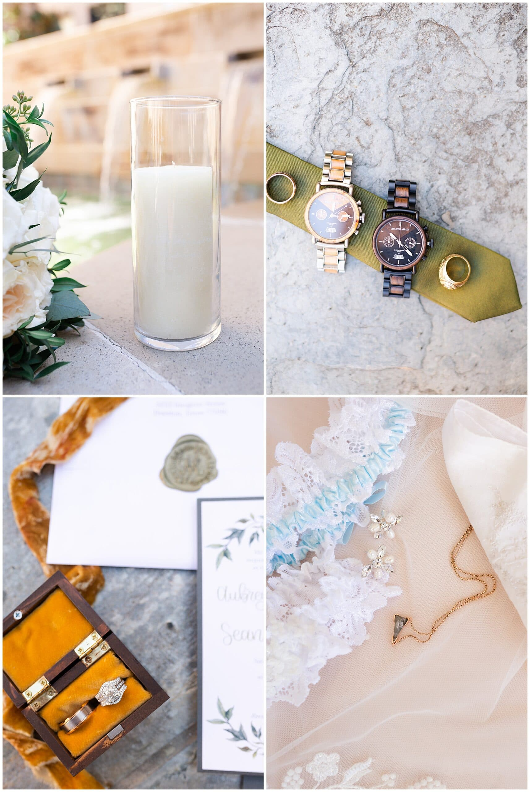 wedding details, wedding invitation at Holy Rosary Catholic Church captured by Swish and Click Photography