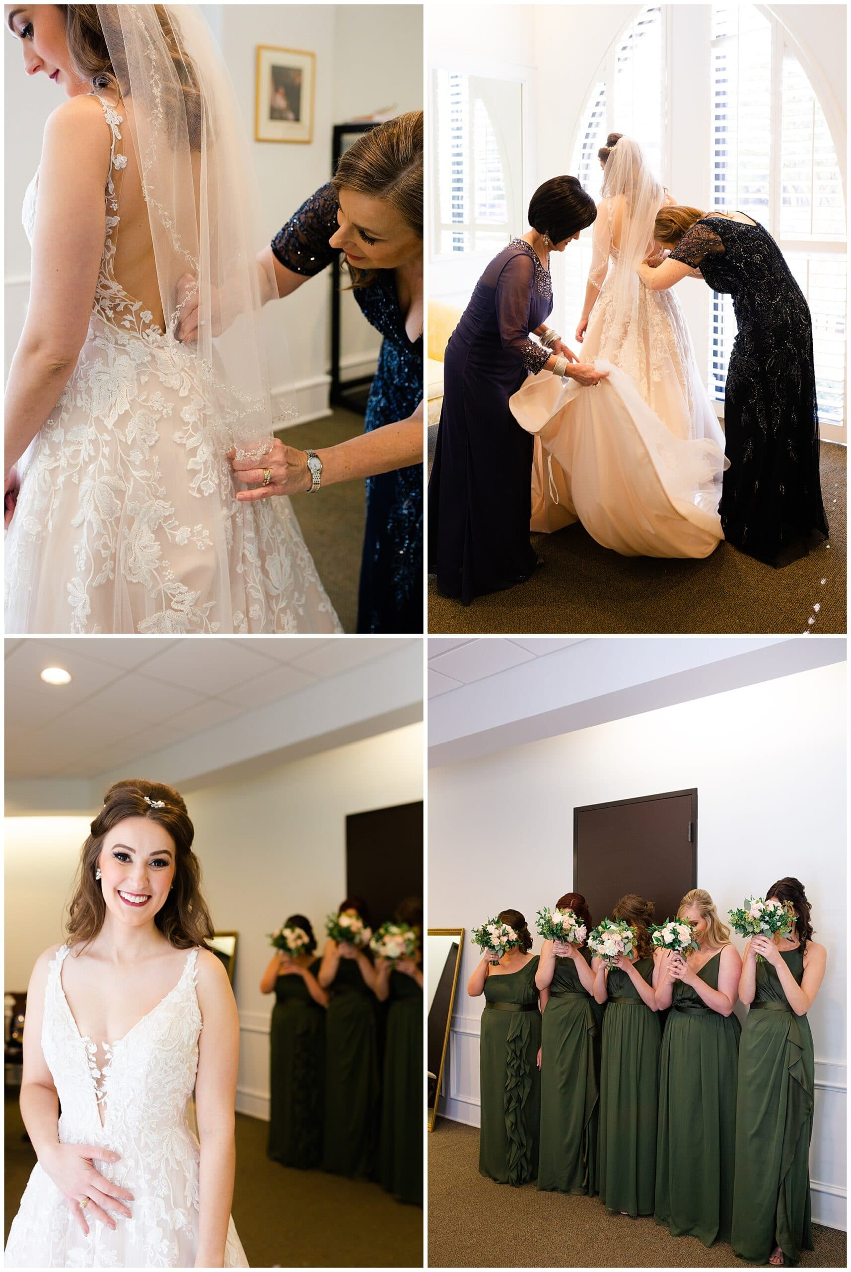 bride getting ready at Holy Rosary Catholic Church captured by Swish and Click Photography
