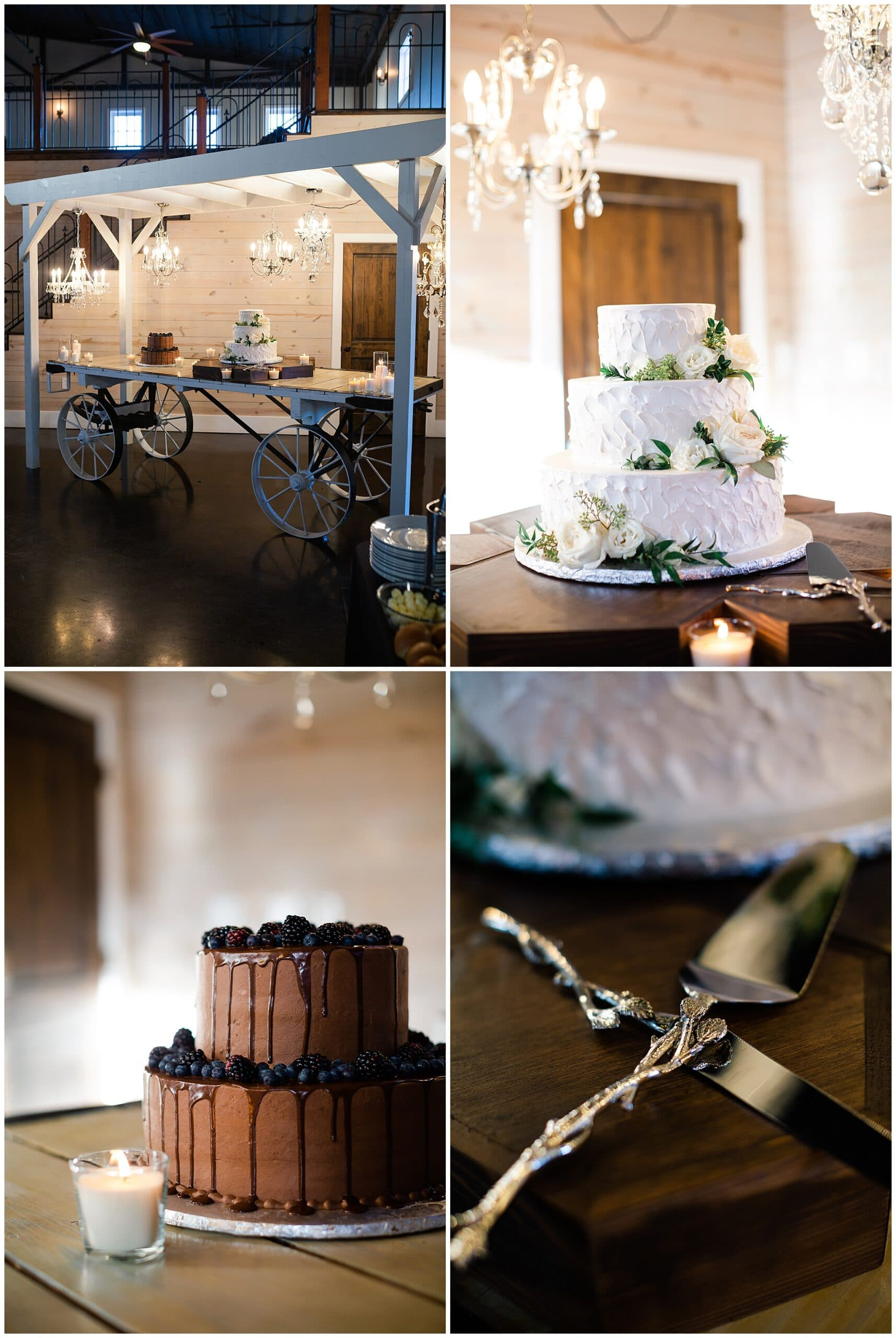 wedding cakes on display at Hochzeit Hall captured by Swish and Click Photography