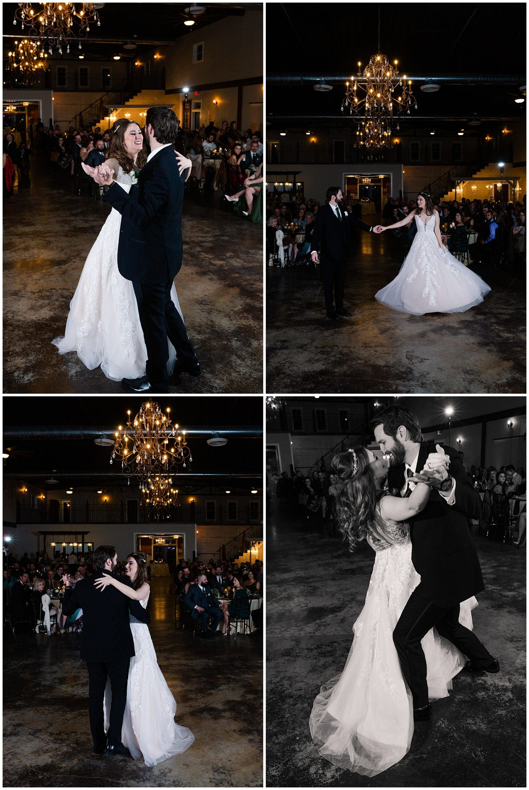 bride and groom first dance at Hochzeit Hall captured by Swish and Click Photography
