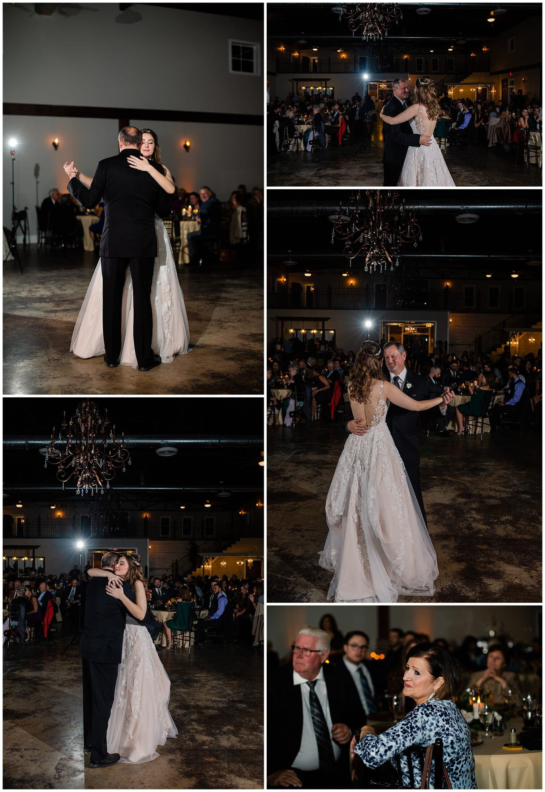 first dances with parents at Hochzeit Hall captured by Swish and Click Photography