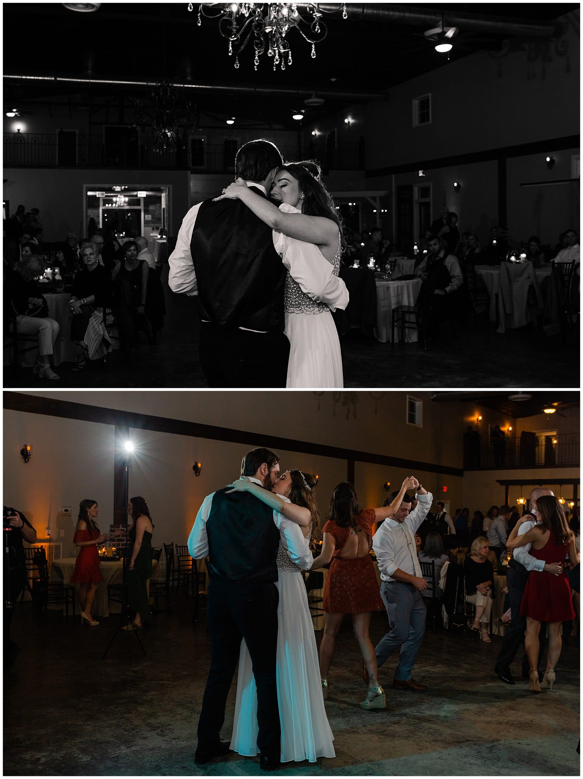 dancing at reception at Hochzeit Hall captured by Swish and Click Photography
