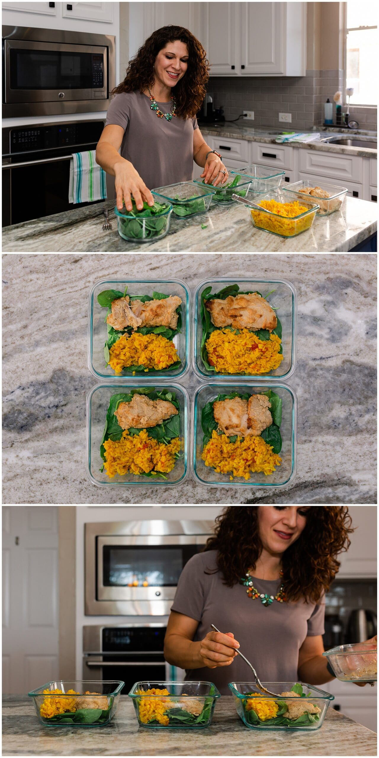 nutritionist from Focused and Fit Nutrition making a sweet potato dish captured by Swish and Click Photography