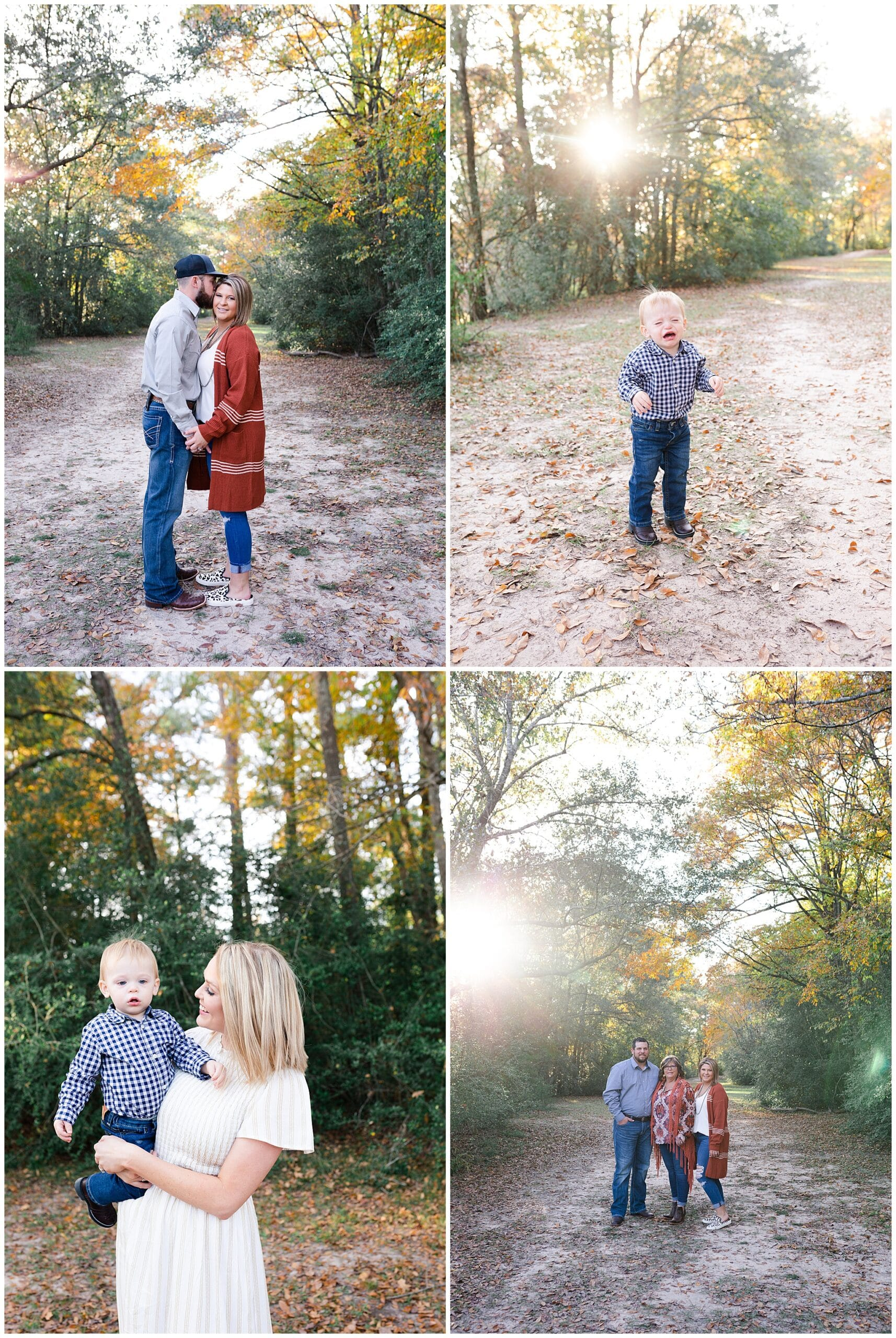 cute family getting portraits taken at Kickerillo-Mischer Preserve by Swish and Click Photography