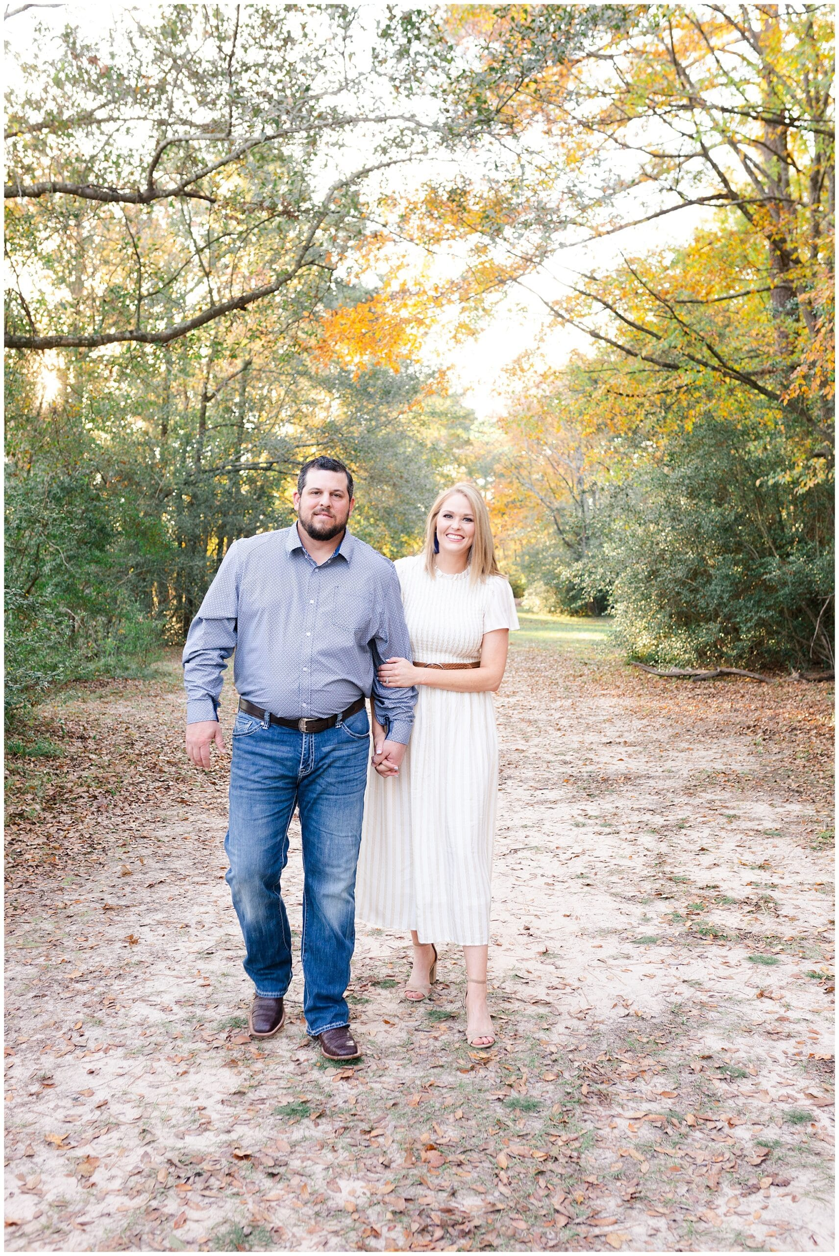 husband and wife getting portraits taken at Kickerillo-Mischer Preserve by Swish and Click Photography