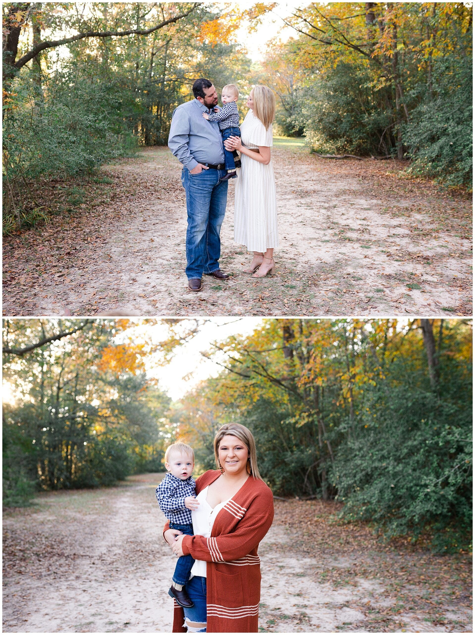 aunt and nephew getting portraits taken at Kickerillo-Mischer Preserve by Swish and Click Photography