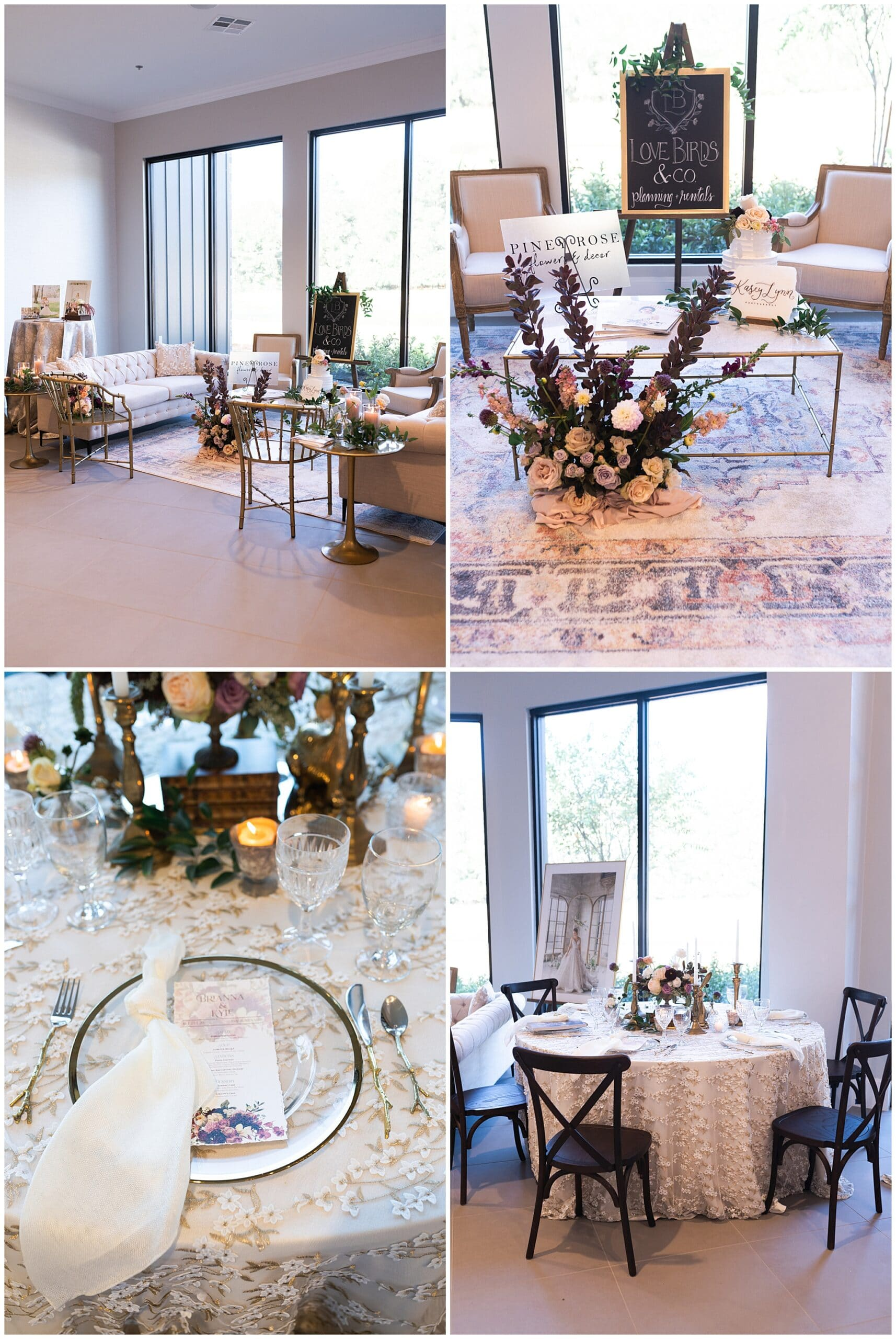Houston wedding venue at their open house table setting for a wedding reception captured by Swish and Click Photography