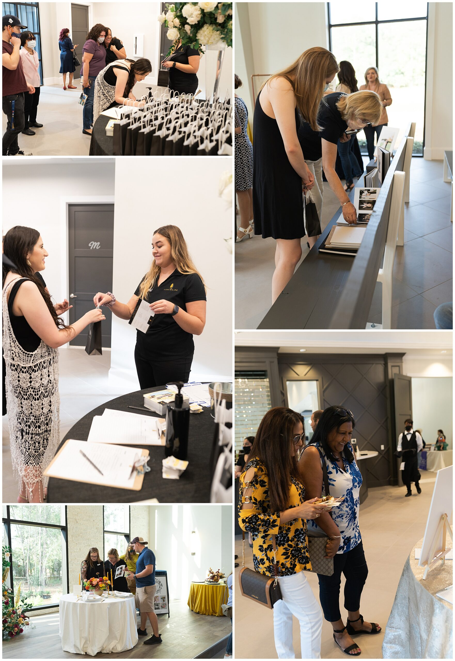 The Luminaire Houston wedding venue at their open house vendor tables captured by Swish and Click Photography