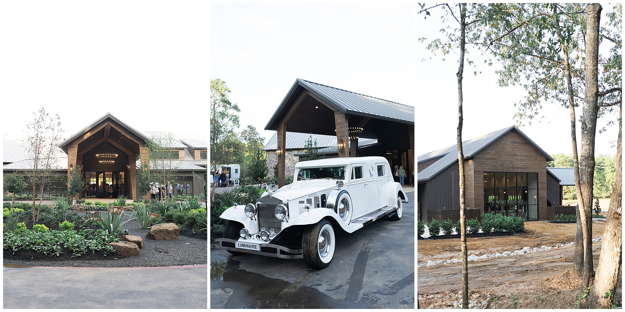 Luminaire wedding venue outside at their open house captured by Swish and Click Photography