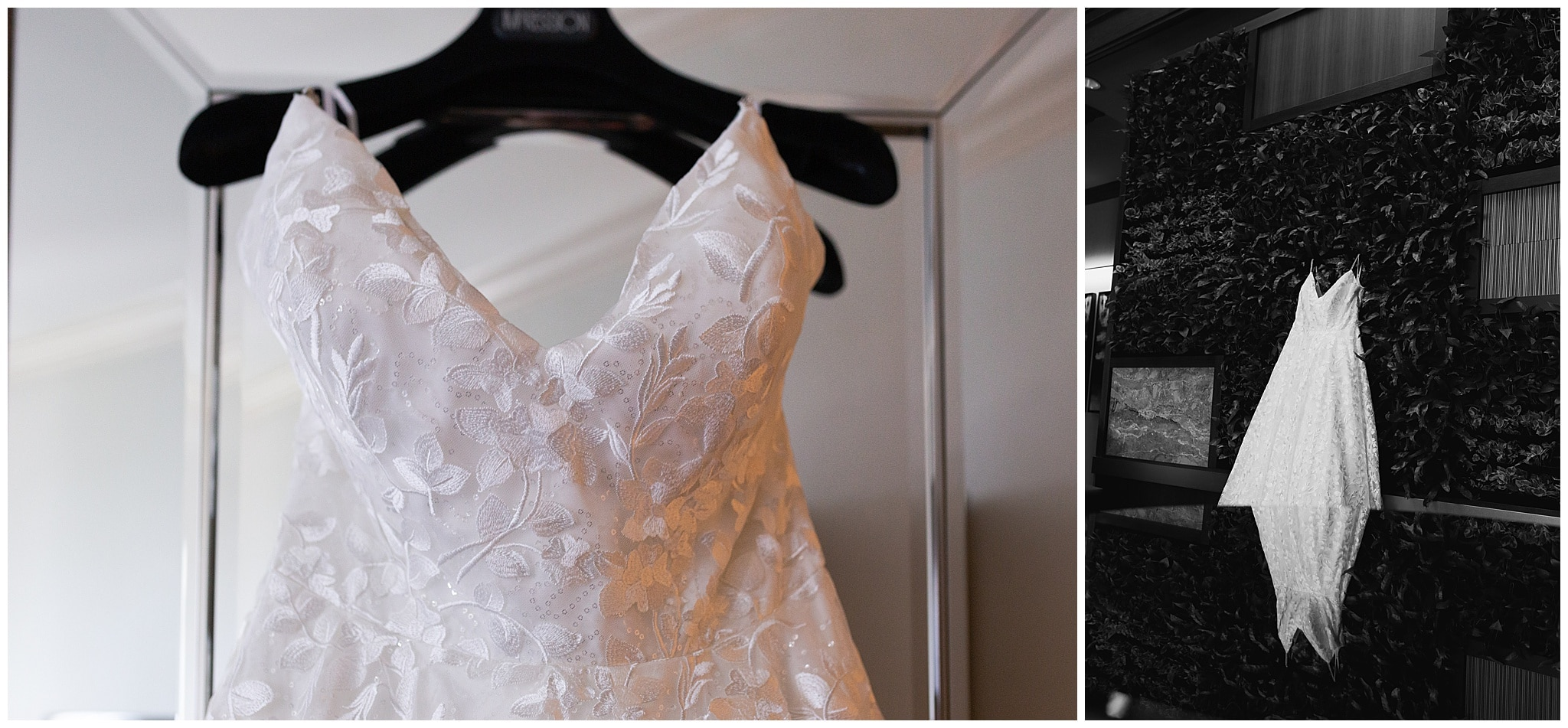 wedding gown on wedding day at The Westin in downtown Houston, Texas by Swish and Click Photography