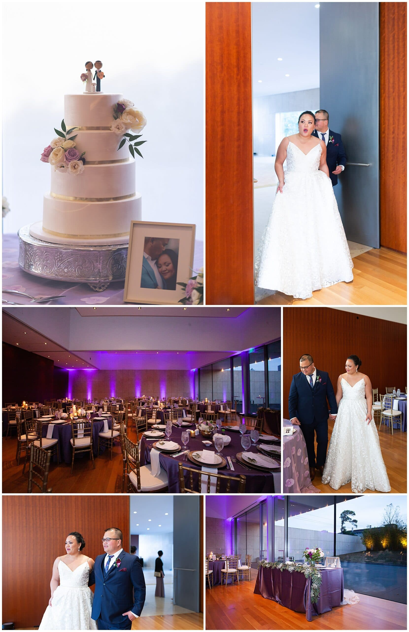 wedding reception cake at the Asia Society in Houston TX by Swish and Click Photography