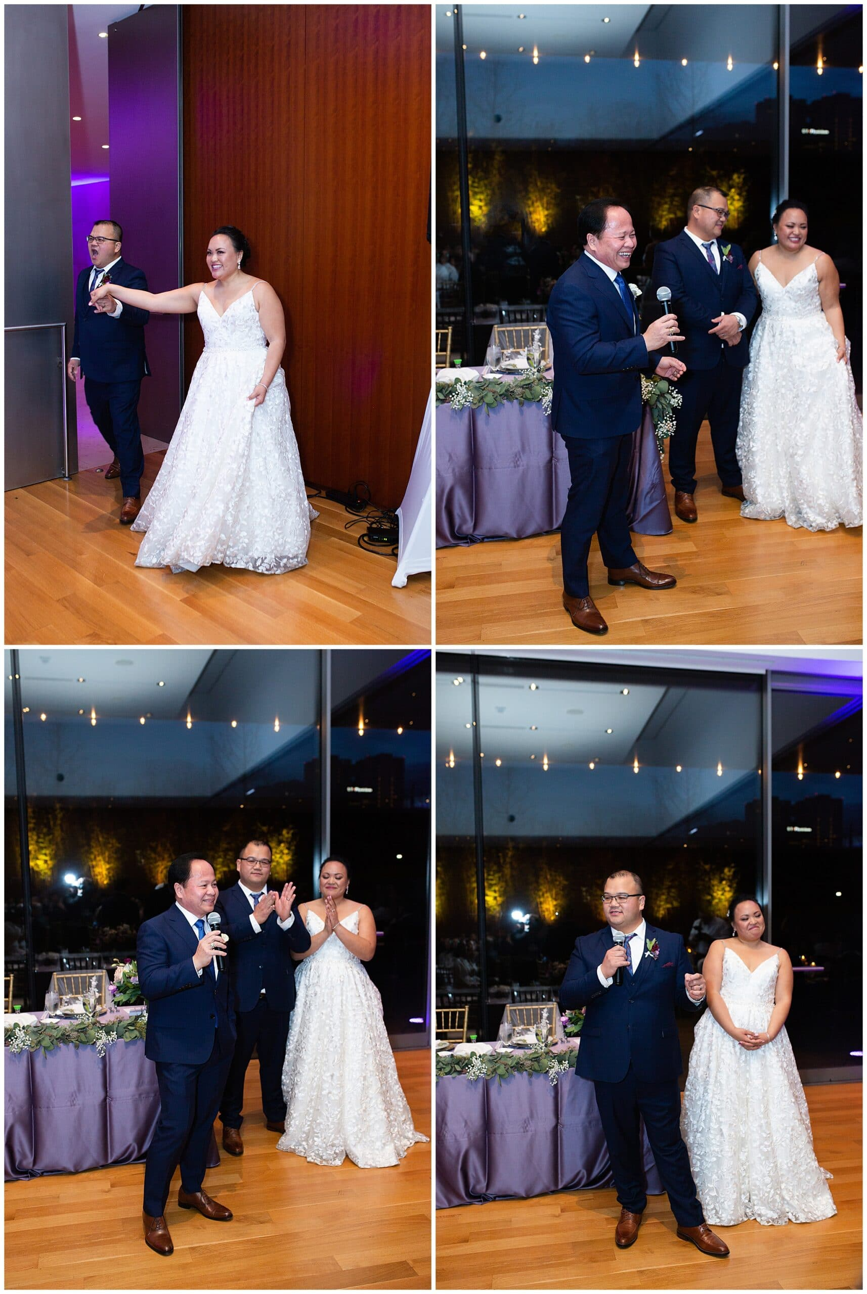 wedding speech by best man and maid of honor at the Asia Society in Houston TX by Swish and Click Photography