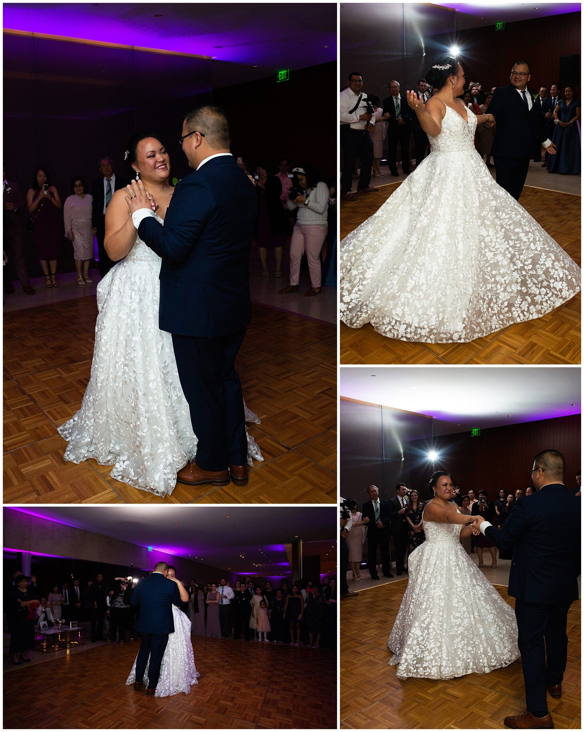 first dance by bride and groom at the Asia Society in Houston TX by Swish and Click Photography